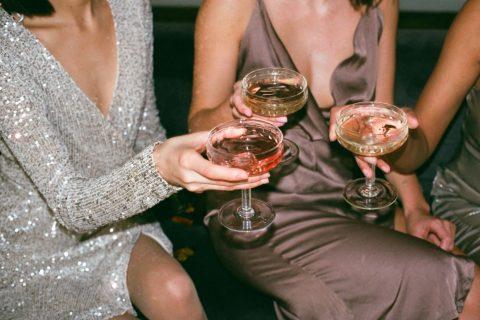 women clad in party wear